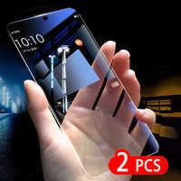 2 uds vidrio templado para Vivo Y12 Y15 Y17 Y9 Protector de pantalla 9H 2.5D Glas protectora de vidrio para Vivo Y97 Y95 Y93 Y91 Y81 Y53 película