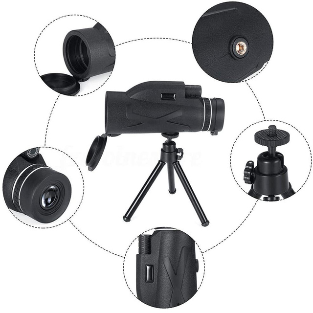 Professional Telescope  80x100 HD Night Vision Monocular Zoom Optical Spyglass Monocle for Sniper Hunting Rifle Spotting Scope 2
