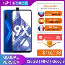 HONOR 9X 4 gb 128 gb smartphone versão global 48mp dupla caemra bateria do telefone móvel 4000 mah 6.59 polegadas