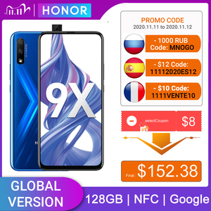 Image 1 - Honor 9X 4 Гб 128 Гб Смартфон глобальная версия 48MP dual caemra мобильный телефон аккумулятор 4000 мАч 6,59 дюйма