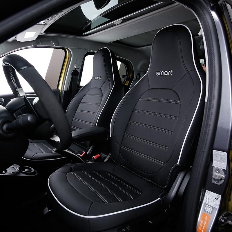 Автомобильный кожаный чехол для Mercedes Benz Smart 453 fortwo автомобильные аксессуары для защиты салона стильные украшения