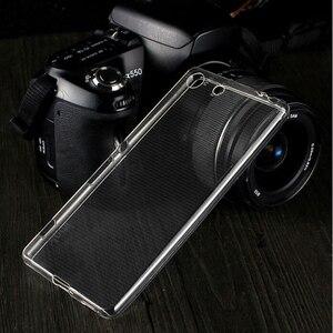 Image 5 - Housse de téléphone arrière en polyuréthane souple Transparent Ultra mince pour Sony Xperia XZ X XA Z2 XA1 XZ1 Z5 Z3 Plus compacte Premium