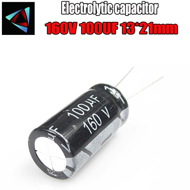 2PCS Higt Quality 160V 100UF 13*21mm 100UF 160V 13*21 Electrolytic Capacitor
