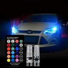 T10 W5W Led Bulb 194 168 RGB Multi Color Parking Lights For Skoda Superb Octavia A7 A5 2 Fabia Rapid Yeti