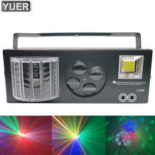 4Pcs Lot Professional Stage Lighting 20W Strobe Laser Spot Wash 4in1 Effect Lights With DMX512 Sound For Party DJ Disco KTV cheap Yuer Stage Lighting Effect DMX Stage Light P200 AC100-240V 50-60Hz Professional Stage DJ Product name 4IN1 Effect Light