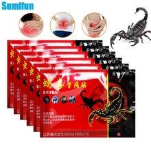 24 pçs escorpião veneno remendo analgésico reumatóide artrite articulação dor nas costas alívio remendo pescoço músculo gesso erval corpo massageador