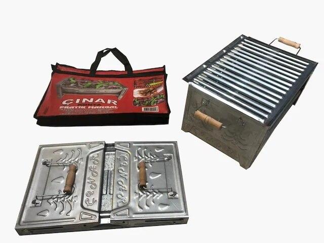 Practical Folding Brazier-Carrying Bag Fan Gift