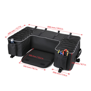 Image 5 - Czarny tylny stojak torba pakiet wsparcie Storage Pack powrót ATV dla Yamaha Big Bear 400 dla Polaris 300 dla Can Am Outlander 400