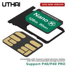 UTHAI C59 NM Thẻ 128GB Nano Cho Thẻ Nhớ Dành Cho Huawei Mate20 Mate30 X Pro P30 P40 Pro Series Nova5 6 MatePad 2020 Đọc 90 MB/giây