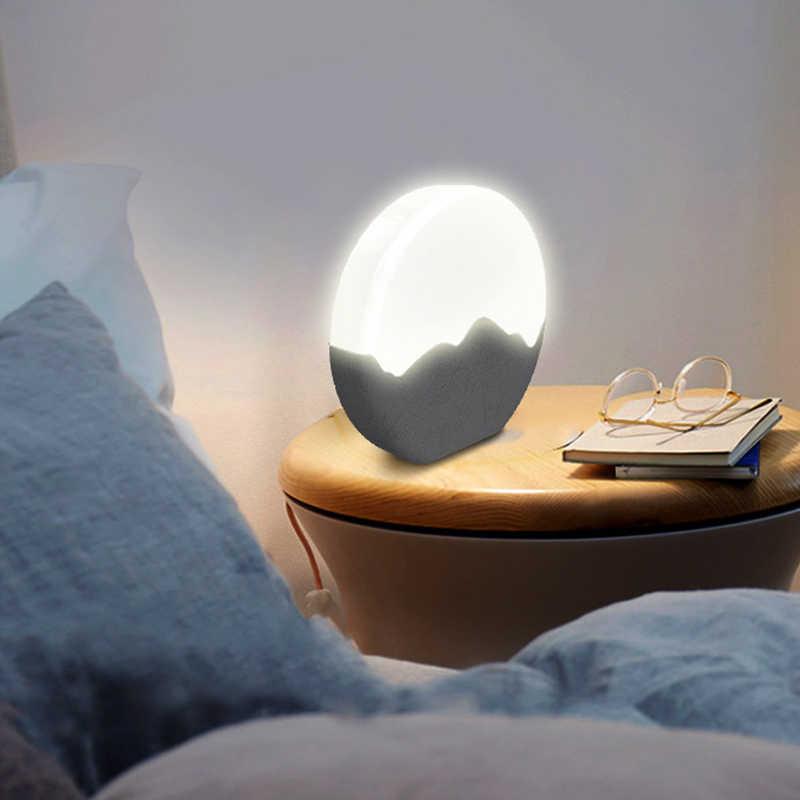 Thrisdar перезаряжаемая Лунная лампа, диммируемая силиконовая сенсорная Ночная лампа, прикроватный детский ночник, настольная лампа
