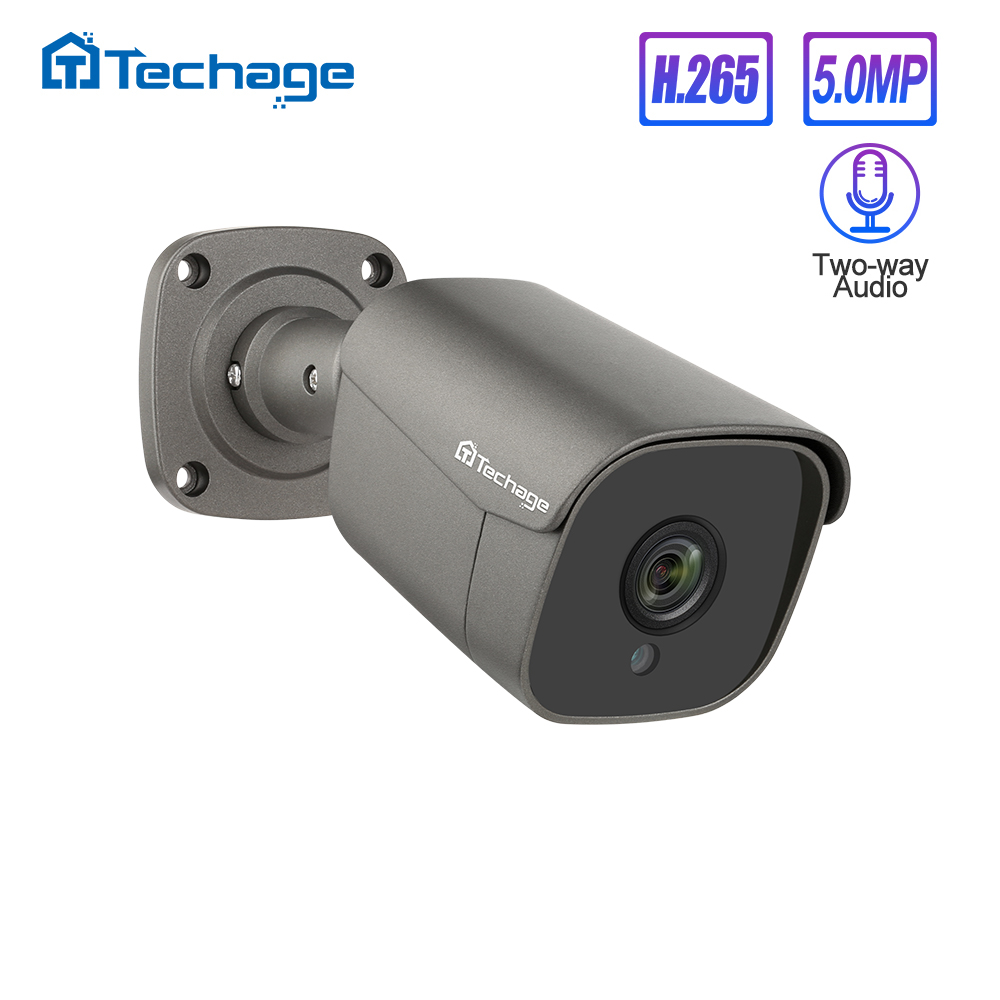 Techage H.265 5MP VOLLE HD Sicherheit POE IP Kamera Zwei-wege Audio AI Kamera IR-CUT Outdoor Video Überwachung für ONVIF NVR System