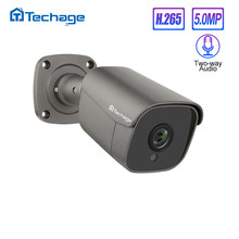 Techage H.265 5MP FULL HD di Sicurezza POE IP Camera Audio Bidirezionale AI Fotocamera IR-CUT di Video Sorveglianza Esterna per ONVIF sistema NVR(China)