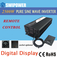 2500W Pure Sinus Solar Power Inverter Dc 12V 24V 48V Naar Ac 110V 220V Digitale Display-in Omvormers & Converters van Woninginrichting op