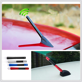 Car Styling 12cm Carbon Fiber roof Short Radio signal Antenna for BMW E34 F10 F20 E92 E38 E91 E53 E70 X5 M M3 image