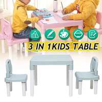 Childrens Kids Plastic Table and Chair Set Learning Studying Kindergarten Non slip Writing Draw Desk New Children Furniture Sets
