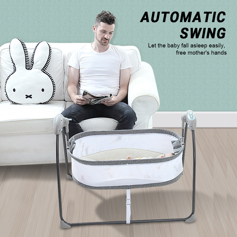 H20e5fb75f5024a87bce61bf42e7b2066E Baby Electric Rocking Chair Swing Comforter Smart Placate Device Artifact Electric Cradle Trottie Nursling Bed Crib