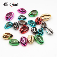 Plated-Shell Beach-Decor Jewelry-Making Natural for DIY Handmade 10pcs/Lot 10-20mm Mix-Color