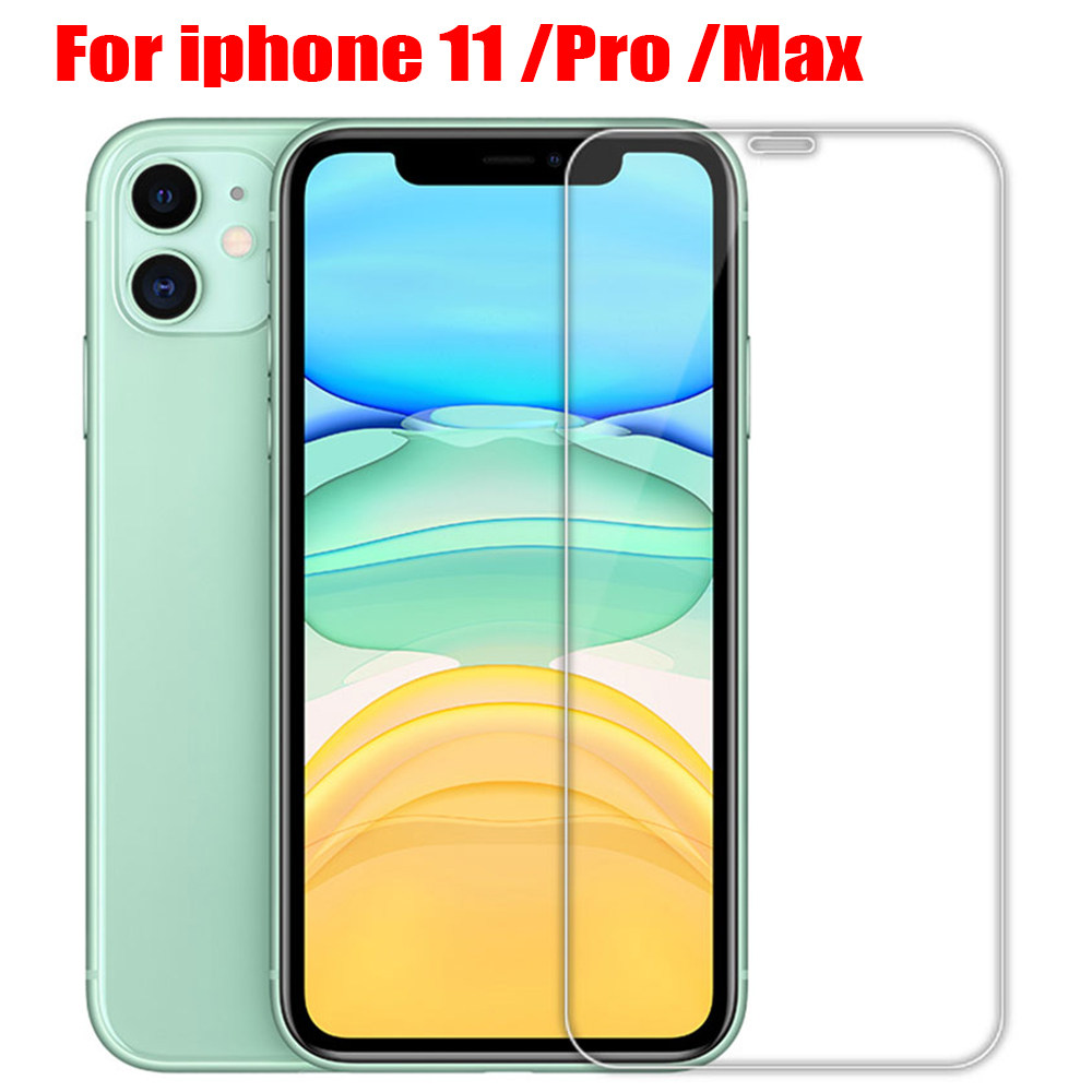 protective glass on iPhone X XS 11 Pro Max XR 7 8 6s Plus 5s SE 2020 screen protector Tempered glass For iphone 11 Pro Max glass