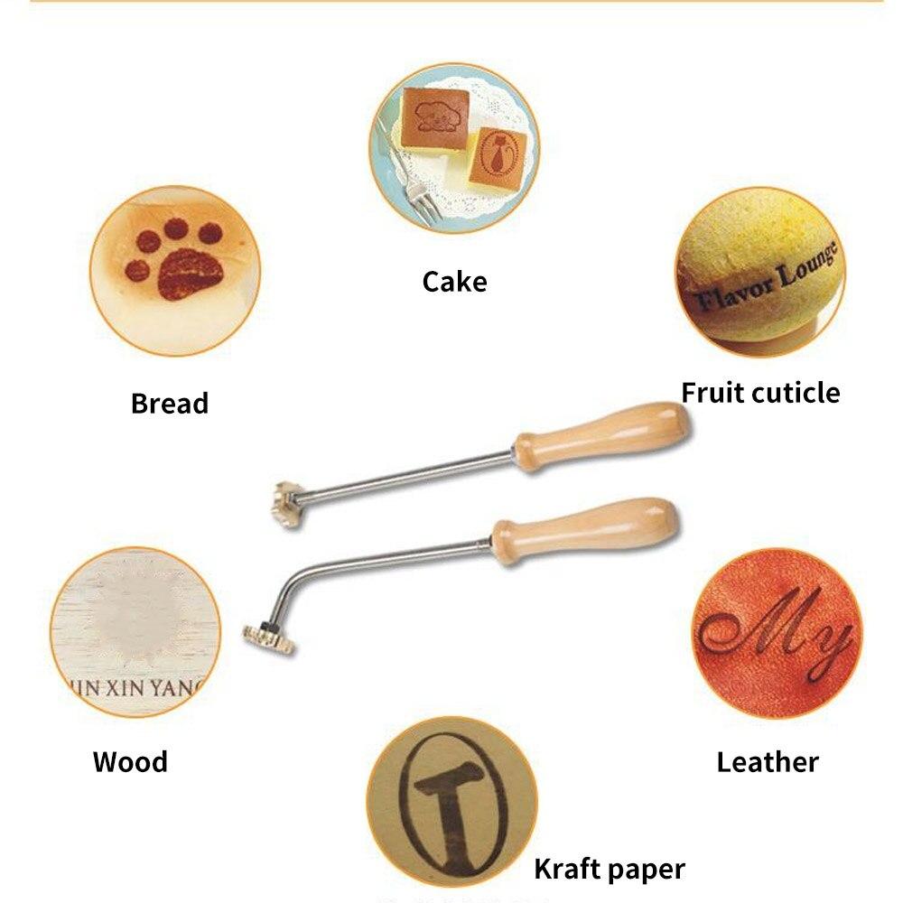 Özel LOGO deri damga bakır pirinç damga DIY mektup Metal damga döküm demir ısıtma kabartma kalıp oyma pişirme baskı