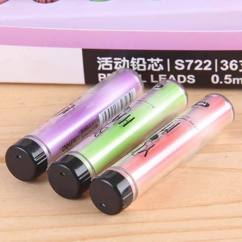 Lápis mecânico automático hb de 20 pçs/caixa, prático, durável, 0.5mm 0.7mm, recarga de chumbo, material escolar de escritório, entrega rápida, 2020
