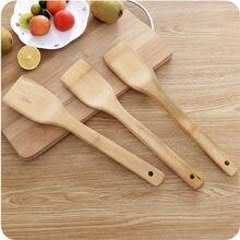 Utensílio de bambu cozinha ferramentas de cozinha de madeira colher espátula casa antiaderente pá de frigideira pá