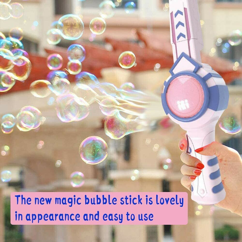 Elastic Smog Bubble Machine with Bubble Water Bubble Wand Girl Heart Toy Birthday Gift  for Children Indoor and Outdoor 888 1