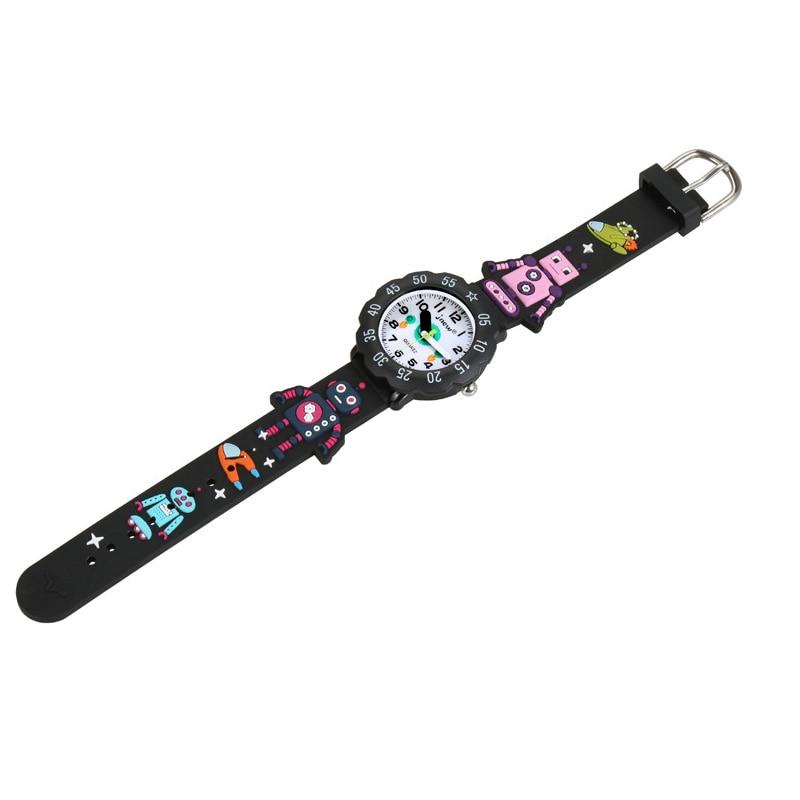 TurnFinger Children% 27s кварц часы 3D милый робот мультфильм узор желе силикон ремешок мода роскошь текстура горячая продажа подарок