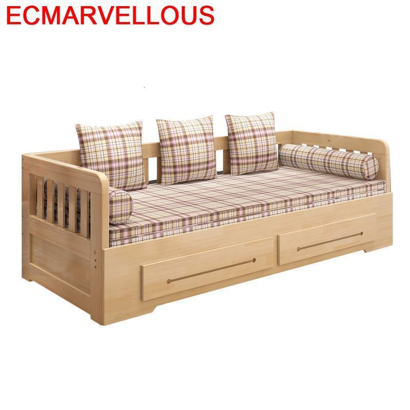 Sillon Couch Puff Asiento Home Sectional Meuble Maison Wooden Mobilya De Sala Mueble Set Living Room Furniture Sofa Bed