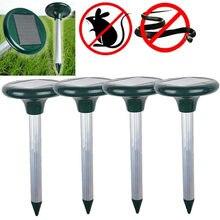 2 PCS Repellent Taupe Solar Repellent Ultrasonic Repellent Snake Waterproof Anti Mole Repel Mole Rats Mouse Snake