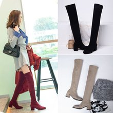 Thigh High Women Boots Winter Pointed Over The Knee Women High and Thin with Thi