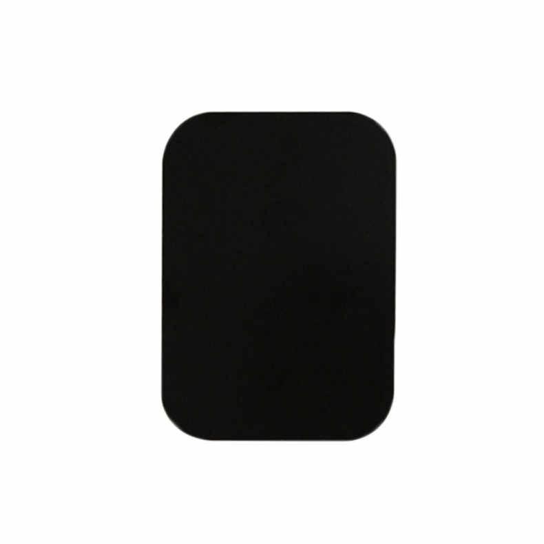 4 قطعة لوحة معدنية حامل مغناطيسي للجوّال في السيّارة حامل هاتف مغناطيسي لاصق ملصق جولة مربع استبدال مع قوي 3m لاصق # P25