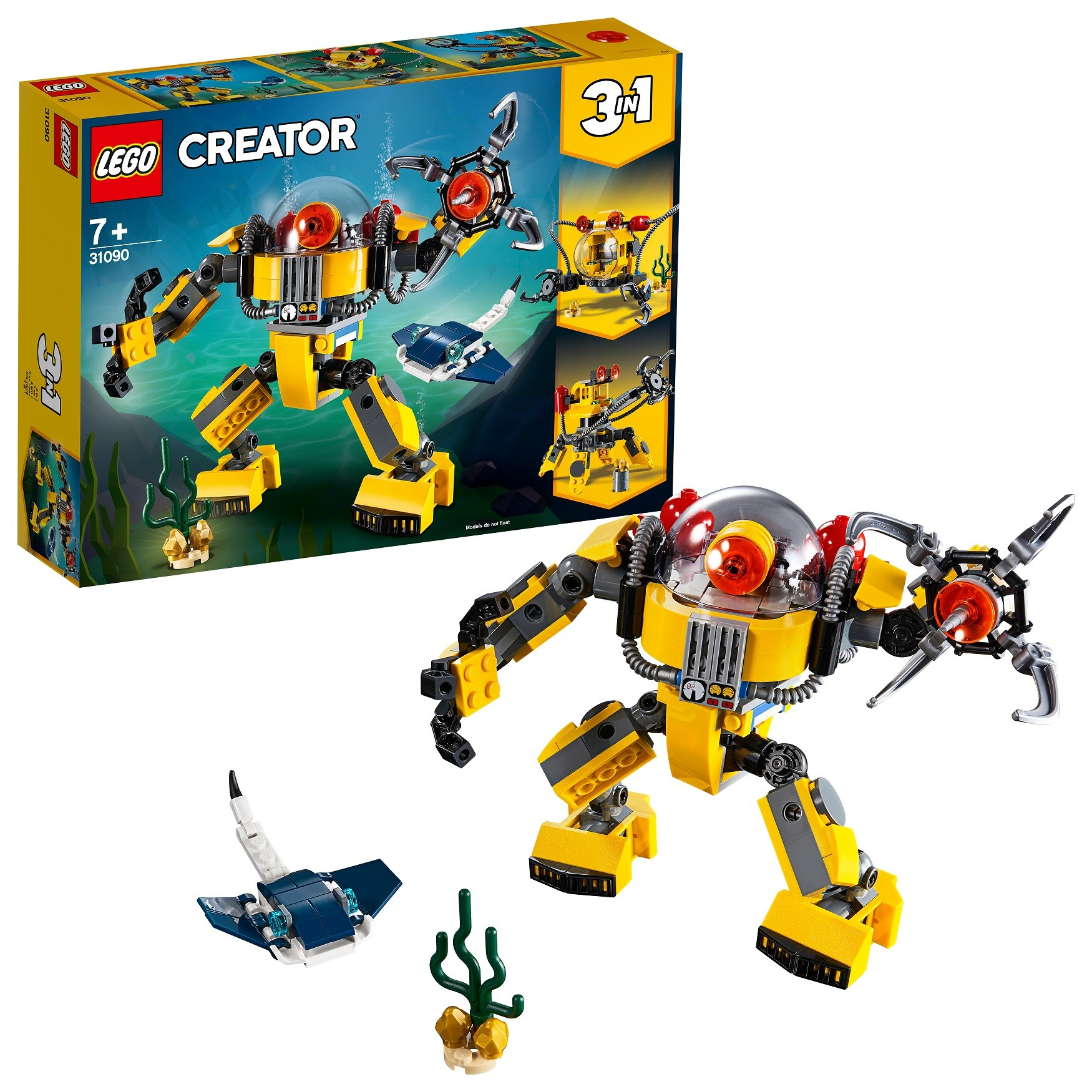 Designer Lego Creator 31090 Robot For Underwater Research