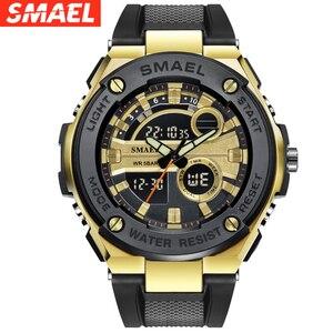 Мужские спортивные цифровые часы SMAEL, армейские силиконовые наручные часы Hodinky Ceasuri, Relogio Masculino Xfcs
