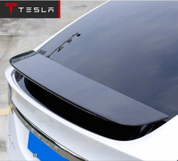 ABS Car Rear Wing Trunk Lip Spoilers ( carbon fiber)Color Fits For Tesla MODEL X  2016 2017 2018