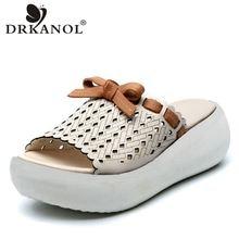 Drkanol Ретро Тапочки женские 2021 Летняя женская обувь с заклепками