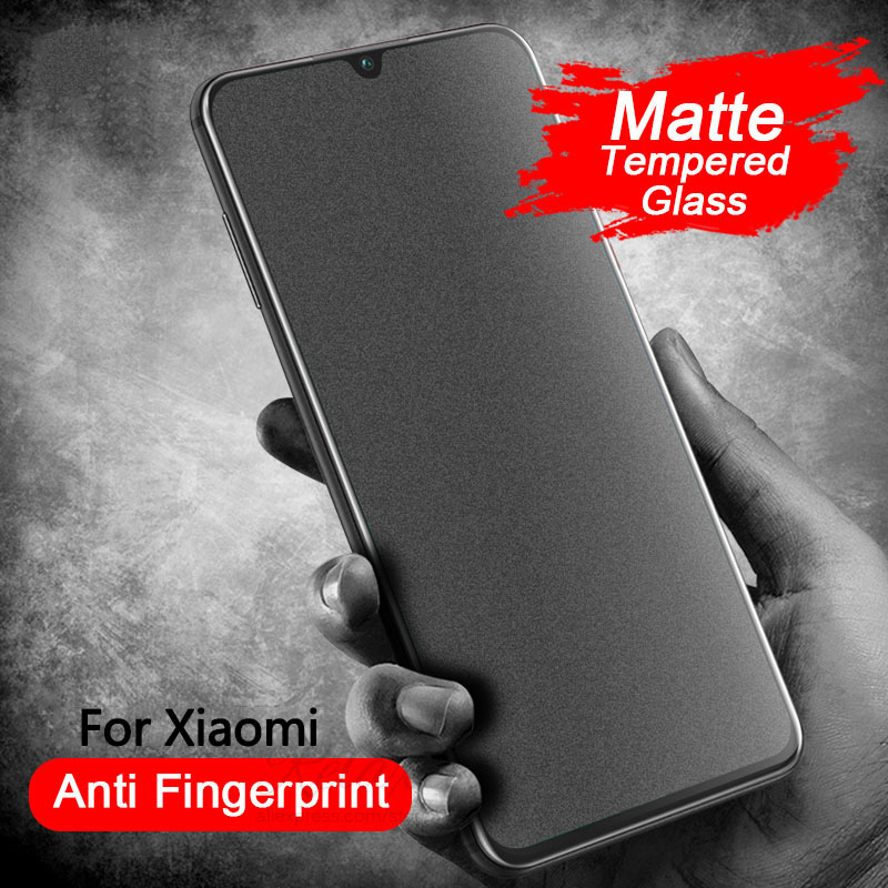 Anti-fingerprint Matte Tempered Glass For Redmi Note8 T Frosted Protective Glass Screen Protector Redmi Note 7 8 9 Pro 9s 8t 8a