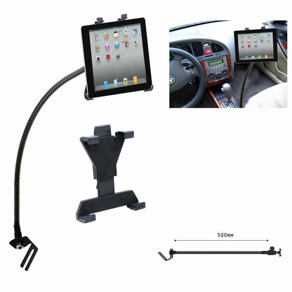 Tablets Car Holder Support Portable Flexible Floor Seat Gooseneck Mount Metal Stand Automobiles Use For 7-10.1inch Tablet PC PAD
