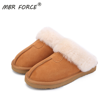 MBR FORCE Natural Fur Slippers Fashion Female Winter  Slippers Women Warm Indoor Slippers Quality Soft Wool Lady Home Shoes women slippers indoor shoes winter soft home slippers plush warm non slip fur shoes flat casual female