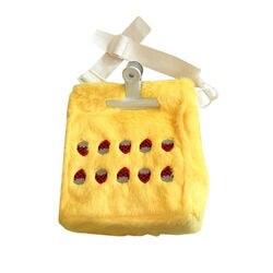 Plush Women's Shoulder Bags Cartoon Fruit Print Female Handbags Fashion Designer Ladies Crossbody Bags Strawberry Women Totes