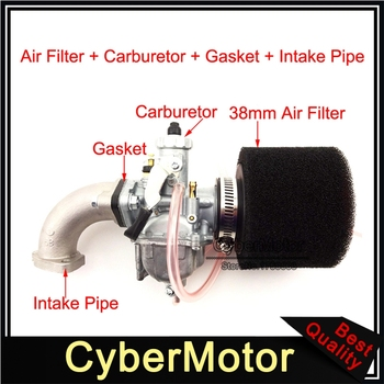 Mikuni 26mm Carburetor VM22 Carb Assembly Black 38mm Air Filter For 110cc 125cc 140cc Engine Pit Dirt Bike Motocross Motorcycle