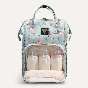 Image 2 - Sunveno Mommy Diaper Bag Large Capacity Baby Nappy Bag Designer Nursing Bag Fashion Travel Backpack Baby Care Bag for Mother Kid