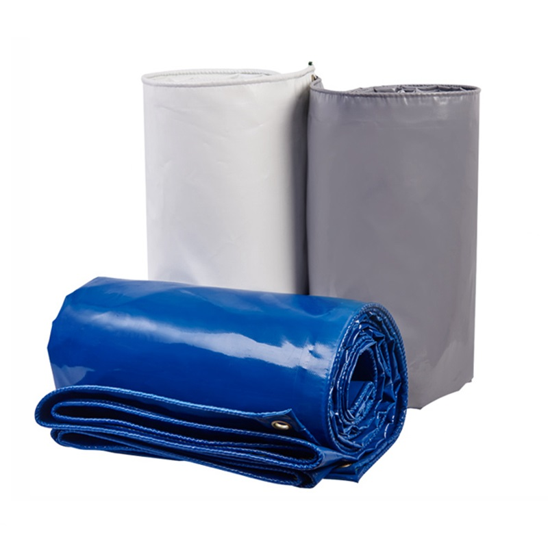 2x1.5m Thick 0.5mm COATED BANNER Tarpaulin Rainproof Cloth Waterproof Oilcloth Oxford Car Cover Rainproof Sail Blue/Gray/White