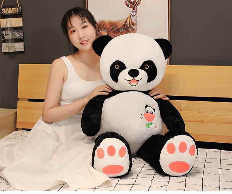 new toy large 100cm smile gaint panda plush toy soft doll hug pillow birthday gift b2187