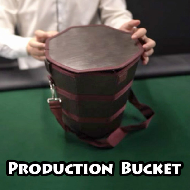 Production Bucket Stage Magic Tricks Gimmick Appear Vanish Magician Close Up Illusions Kids Magic Show Party Magia