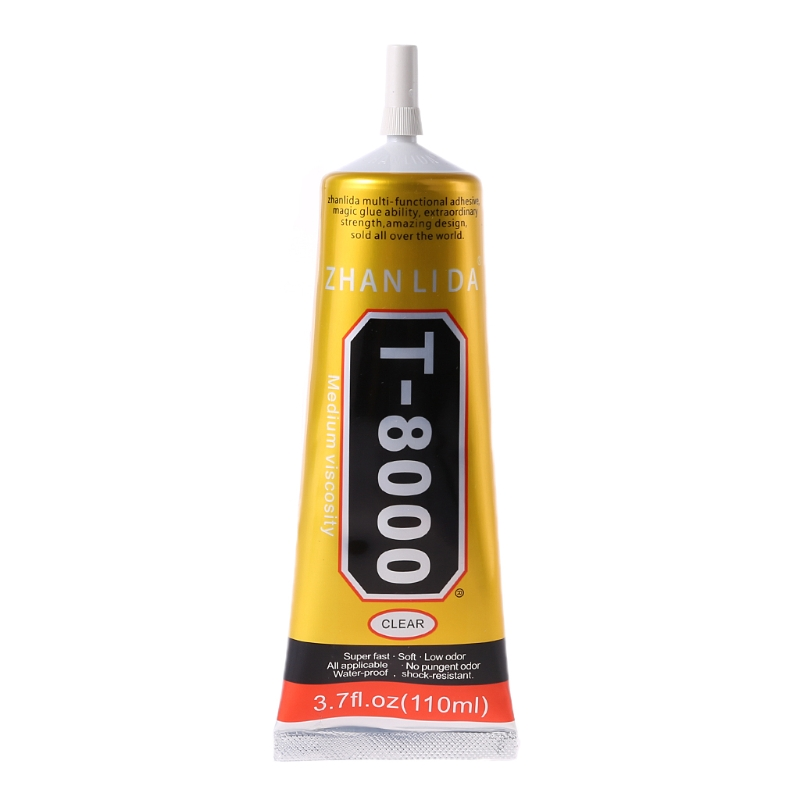 <font><b>T8000</b></font> Multi purpose Adhesive glass touch screen panel frame fixing glue <font><b>110ml</b></font> image