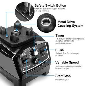 Image 4 - BPA Free 3HP Heavy Duty Blender do zastosowań komercyjnych mikser sokowirówka High Power robot kuchenny Ice Smoothie Bar owoce Blender elektryczny