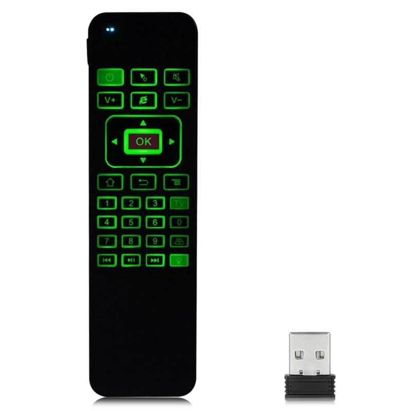 Souris d'air 2.4Ghz avec rétro-éclairage clavier sans fil apprentissage somatosensoriel télécommande Ir pour Android Windows Mac Tv Box