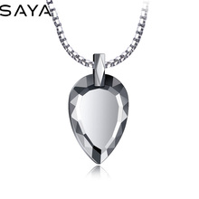 Pendants Women Necklace Jewelry Tungsten Heart for Fashion Engraving High-Polished Carbide