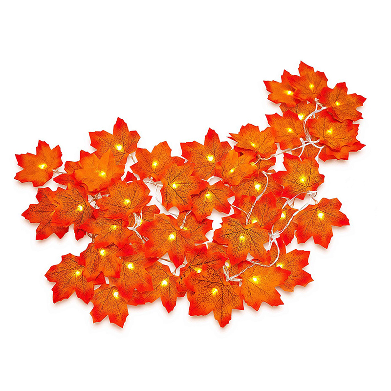 LED Autumn Maple Leaves LED Fairy String Lights Holiday Party Flower Arrangement For Wedding Christmas Garlands Decoration 3M 2M
