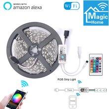 Умный светильник полосы WI-FI Управление светодиодный светильник Смарт Цвет изменение умный дом Совместимость с Amazon Alexa синхронизироваться с...